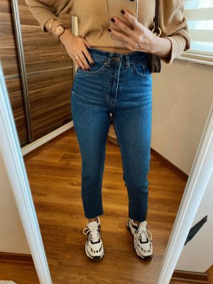Topshop Koyu Renk Slim Fit Jean