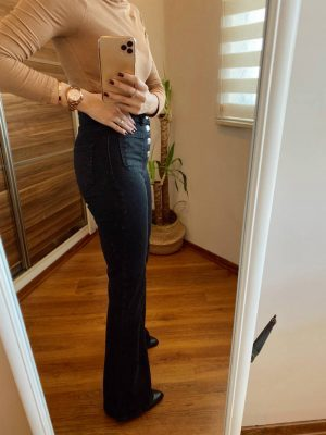Antrasit Cep Detaylı İspanyol Paça Jean