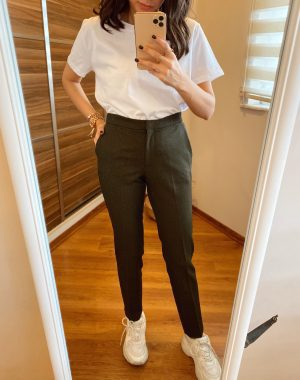 Haki Yeşil Havuç Pantolon