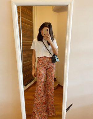 Kiremit Renk İspanyol Paça Pantolon