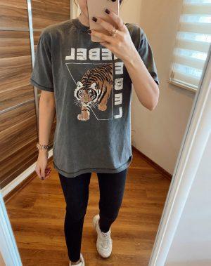 Yıkamalı Rebel Tişört