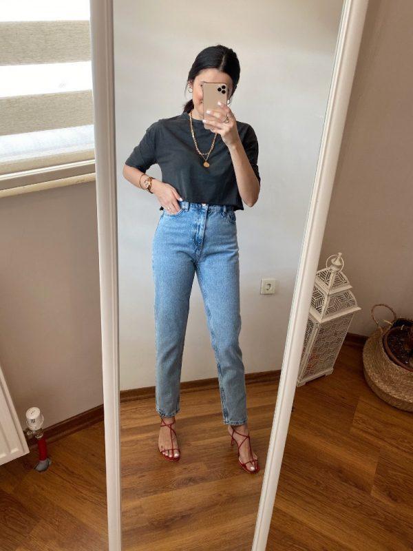 Vintage Yıkamalı Mom Jean