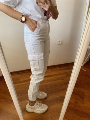 Beyaz Jogger Jean