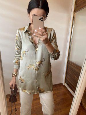 Kaplan Desenli Zara Model Gömlek