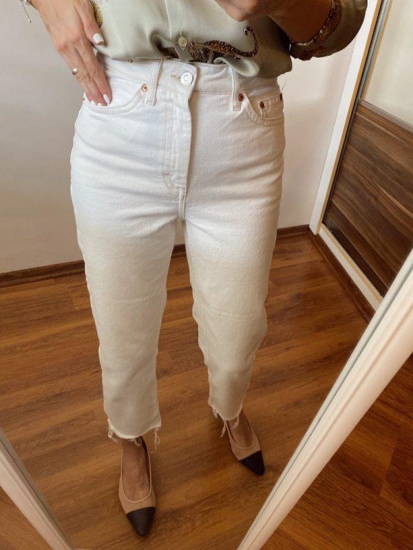 Topshop Ekru Slim Fit Jean