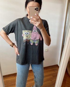 Yıkamalı Sünger Bob Tişört