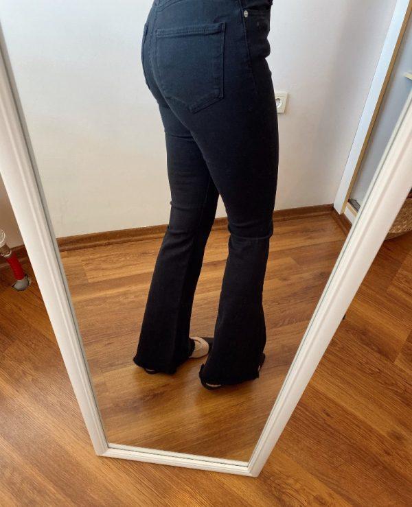 Siyah İspanyol Paça Jean