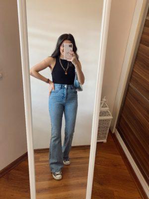 Vintage İspanyol Paça Jean