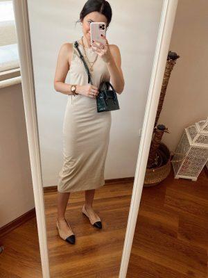 Nude Halter Yaka Elbise