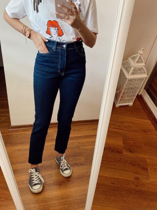 Topshop Lacivert Slim Fit Jean