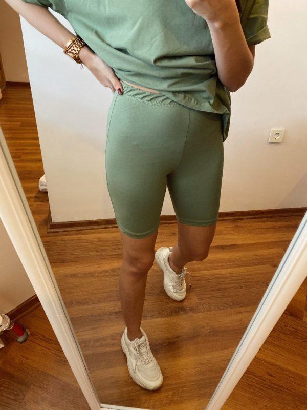 Çağla Yeşili Şortlu Takım