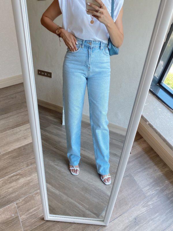 Zara Ultra Yüksek Bel Straight Jean