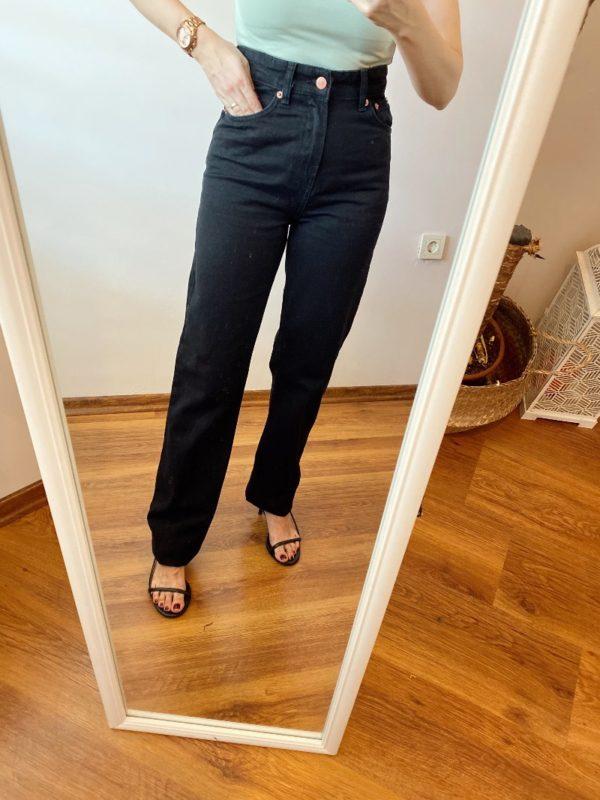 Siyah Ultra Yüksek Bel Straight Jean