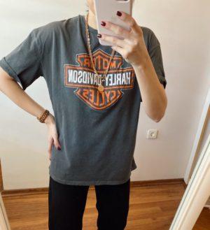 Yıkamalı Harley Tişört