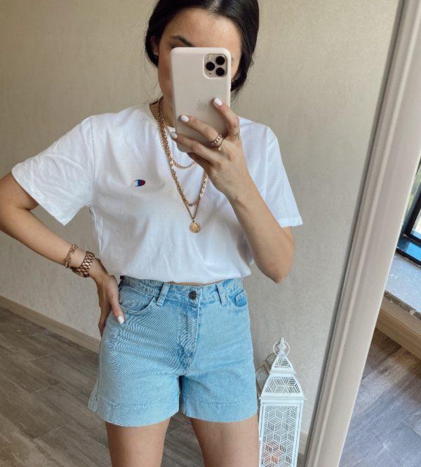 Beyaz Crop Tişört