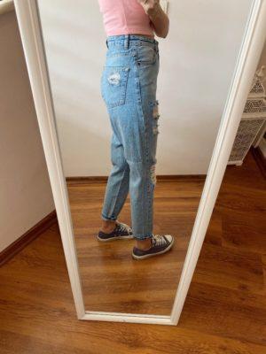 Mavi Yırtıklı Jean