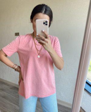 Pembe Basic Tişört