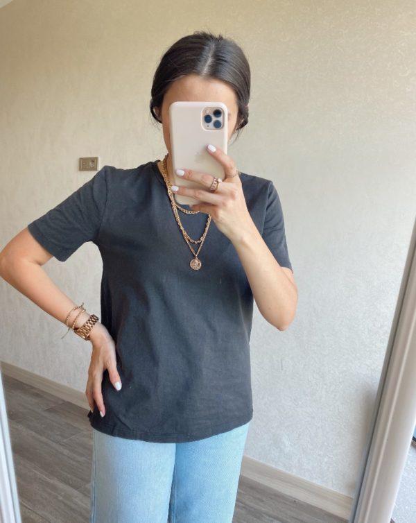 Antrasit Basic Tişört