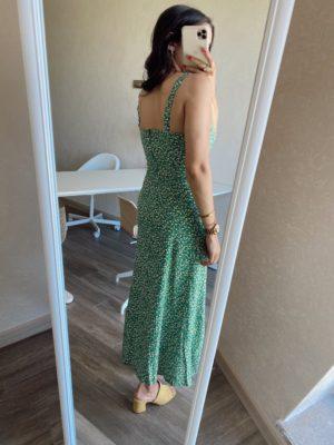Bella Yeşil Askılı Elbise