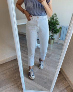 Topshop Beyaz Mom Jean