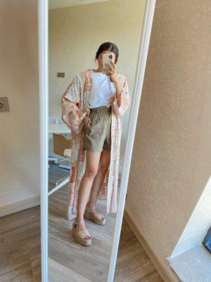 Kiremit Renk Kimono