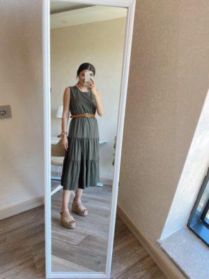 Haki Kolsuz Elbise