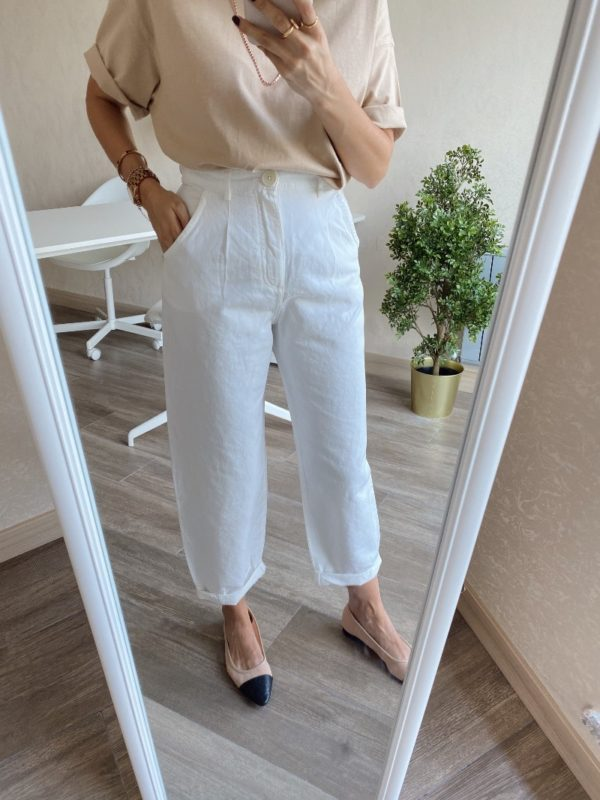 Zara Beyaz Balon Jean