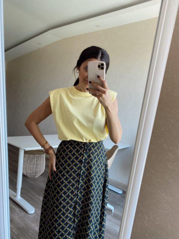 Sarı Vatkalı Tişört