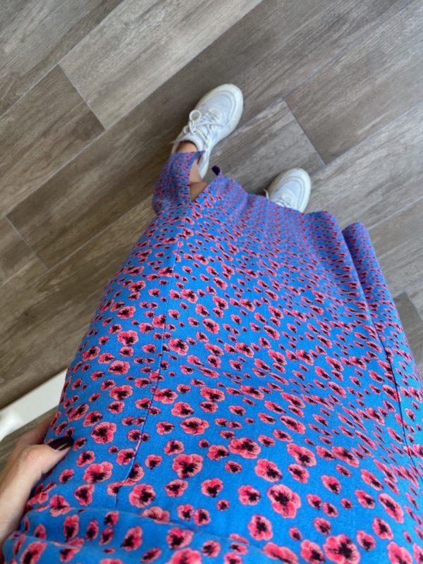Mavi Kalın Askılı Elbise