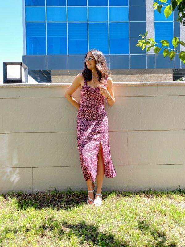 May Pembe Askılı Elbise