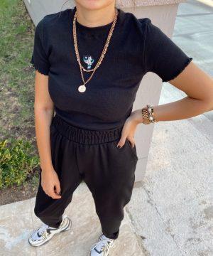 Siyah Powerpuff Girls Tişört