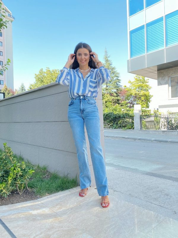 Zara Yırtmaç Detaylı Straight Jean