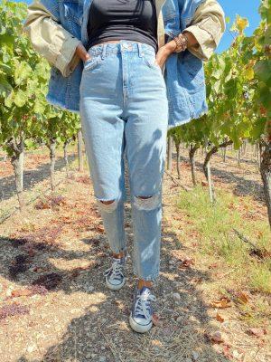 Zara Yırtık Detaylı Jean