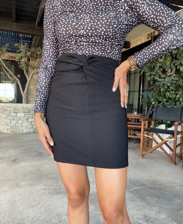 Zara Model Siyah Mini Etek