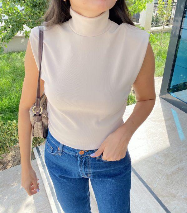 Taş Renk Vatkalı bluz