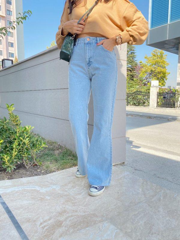 Buz Mavi Vintage Jean