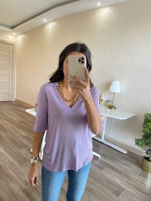 Lila Polo Tişört