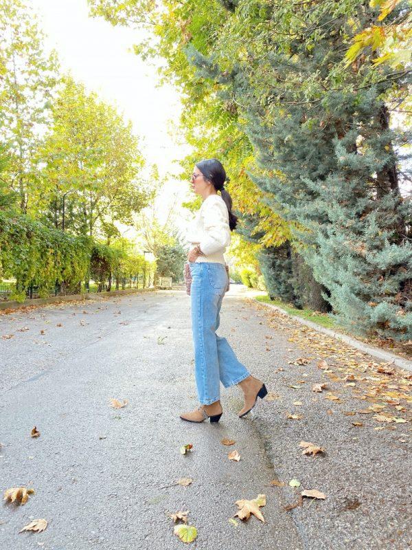 Buz Mavi Wide Leg Jean