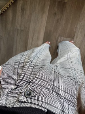 Gri Ekose Kumaş Pantolon