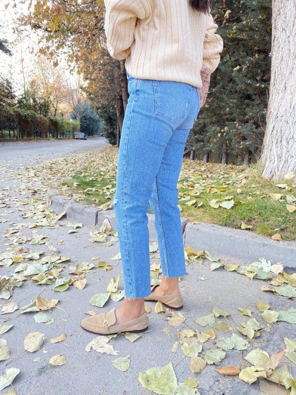 Zara Stuart Diz Yırtık Boyfit Jean