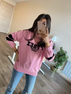 Pembe Pybex Triko Sweat